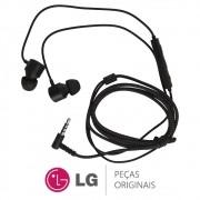 Fone de Ouvido Estereo Preto 24OHM 1,15M Celular / Smartphone LG G7 THINQ LMG710EMW