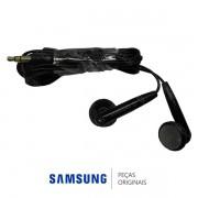 Fone de Ouvido Preto 3,5mm para MP3, MP4 Samsung Diversos Modelos