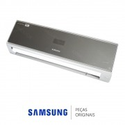 Gabinete Frontal Completo Prata da Evaporadora Ar Condicionado Samsung Vivace 9.000 e 12.000 Btus