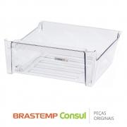 Gaveta de Frutas Inferior W10430993 Refrigerador Brastemp BRE80AB BRE80AR BRV80AR