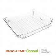 Gaveta de Frutas Superior W10430990 Refrigerador Brastemp BRE80AB BRE80AR BRV80AK BRV80AR