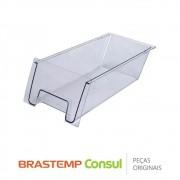 Gaveta Multiuso W10347199 para Geladeira Brastemp BRK50, BRM50, BRW50