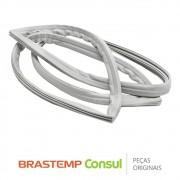 Gaxeta / Borracha da Porta do Freezer W10223009 para Geladeira Brastemp Consul BRK50N BRM50N CRD49A