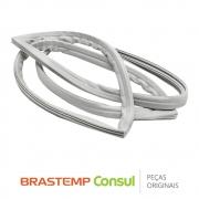 Gaxeta / Borracha da Porta do Refrigerador W10223010 para Geladeira Brastemp Consul BRK50N, BRM50N, BRW50N, CRD48
