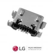 Jack / Conector Micro USB 5 Pinos Celular / Smartphone LG K12 Max LMX520BMW, LMX525BAW