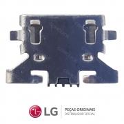 Jack / Conector Micro USB 5 pinos Celular / Smartphone LG K8 LGX240DS