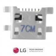 Jack / Conector Micro USB 5 Pinos EAG64149801 Celular / Smartphone LG K4 LGK130F, LG K10 LGK430DSF