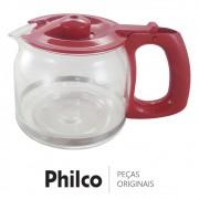 Jarra de Vidro Vermelha Cafeteira Philco PH16 INOX