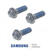 KIT 03 Parafusos de Fixação do Eixo no Cesto DC60-40137A Lava e Seca Samsung WD0854W8N WD106UHSAGD