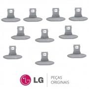 KIT 10 Puxadores da Porta MEB61281101 Lavadora e Lava e Seca LG WD-1403FD, WD-1403RD, WD-1409RD