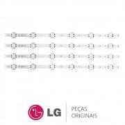 KIT 4 Barras de LED AGF78687101 TV LG 49UJ6525, 49UJ6565