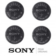 KIT 4 Pilhas / Baterias CR2025 Óculos 3D Ativos SSG-3100GB, SSG-4100GB, SSG-5100GB