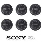 KIT 6 Pilhas / Baterias CR2025 Óculos 3D Ativos SSG-3100GB, SSG-4100GB, SSG-5100GB