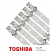 KIT Barras de LED (06 Barras) TV Toshiba 65HR330M08A1 65P65US