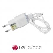 Kit Carregador 5,0V 0,85A MCS-02BR2 + Cabo USB 3.0 Smartphone LG K4, K8, K10, XCAM, XSCREEN