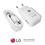 KIT Carregador MCS-H06BR 1,8A + Cabo USB 1,2M LG EAY64469120 Celular / Smartphone