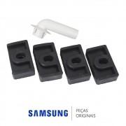 Kit de Dreno e Pés de Borracha da Unidade Condensadora para Ar Condicionado Samsung Diversos Modelos
