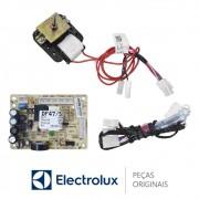 KIT Placa Potência + Sensor + Motor do Ventilador 220V 70001456 Refrigerador Electrolux DF47, DF50