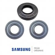 KIT Rolamentos 62MM + 52 MM + Retentor DC62-00008A / 6601-000176 Lava e Seca Samsung WD856UHSAWQ