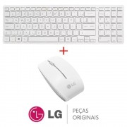KIT Teclado + Mouse sem Fio V320KB Branco All In One e Notebook LG
