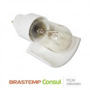 Lâmpada Incandescente 127V 15W com Soquete W10324077 / W10255216 Geladeira e Freezer Brastemp Consul