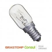 Lâmpada Incandescente 220V 15W W10267227 Geladeira Brastemp Consul BRE49BE,  BRM39ER, CRA30FB, CRM33
