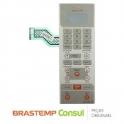 Membrana / Painel Frontal W10187221 para Micro-ondas Brastemp BMK35AE, BMX35AR