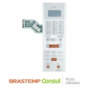 Membrana / Painel Frontal W10187228 / W10160041 para Micro-ondas Brastemp BMS35AB, BMS35BB