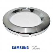 Moldura Frontal Cromada da Porta para Lava e Seca Samsung WF106U4SAWQ/AZ