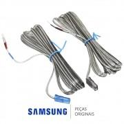 Par de Cabos das Caixas de Som Traseiras para Home Theater Samsung Diversos Modelos