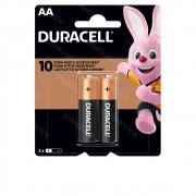 Pilhas Alcalina AA 2 UNID. MN1500B2 Duracell Lanternas, Controles, Brinquedos, Consoles