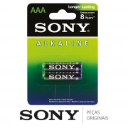 Pilha Alcalina Sony (PAR) AAA Palito 1.5V Controles Teclados Mouses Câmeras Consoles Relógios Rádios