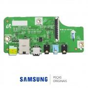 Placa Auxiliar Lateral de Conexão LAN, Cabo Ótico e AV para Monitor / TV Samsung