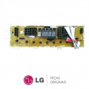 Placa Display / Interface 110/220V EBR42908709 Lavadora LG T1209DB, T1209DS, T1409DB, T1409DS