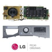 Placa Display / Interface 110V com Gabinete Frontal / Painel EBR74143680 Lava e Seca LG WD1485AT7