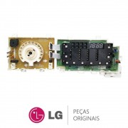Placa Display / Interface 110V EBR74143640 Lava e Seca LG WD1412RT, WD1412RT5, WD1412RTB