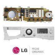 Placa Display / Interface 220V + Painel Frontal EBR67836628 Lava e Seca LG WD-1485ADA, WD-C1485ADA