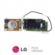 Placa Display / Interface EBR78770649 Lava e Seca LG WD10WP6A WD11EP6A WD11WP6A WD1412RTA7B