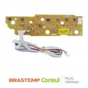 Placa Display / Interface W10605809 Lava e Seca Brastemp BWC11AB, BWC10BB, BWC10A