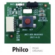 Placa Função e IR (Receptora do Controle Remoto) TV Philco BTV32G51SN, BTV40E63SN, PTV32G50SN