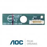 Placa IR / Receptora do Controle Remoto 715G6316-K02-000-004I TV AOC LE50D1452