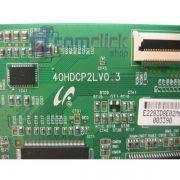 Placa PCI T-CON 40HDCP2LV0.3 LJ94-02283D para TV e Monitor LFD Samsung LN40A330J1XZD, LN40A450C1XZD