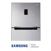 Porta do Freezer Completa em Inox Look para Refrigerador Samsung RT35FDAJDSL