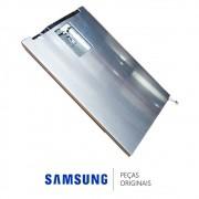 Porta Inferior em Inox Platinado para Refrigerador Samsung RT35FEAJDSL