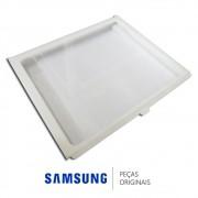 Prateleira do Meio em Vidro Temperado para Freezer Samsung RZ80EERS1, RZ80FEPN1, RZ90EEPN1