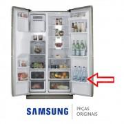 Prateleira Inferior da Porta Direita para Refrigerador Samsung RS21HDTSW1, RS21HDUPN1, RSH1DTSW1/XAZ