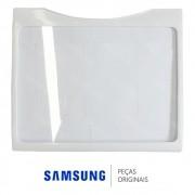 Prateleira Inferior em Vidro Refrigerador Samsung Side by Side RS21DAMS, RS21DASW, RS21FASM