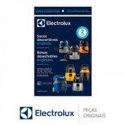 Saco Descartável (3 Unidades) 70035078 Aspirador de Pó Electrolux A10S A10T FLEXS AQP10 GT20P