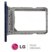 Slot / Bandeja do Chip Azul Celular LG K12 MAX K12 PRIME