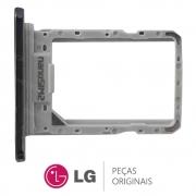 Slot / Bandeja do Chip Cinza Platina Celular LG K12+